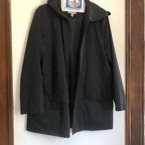 Hooded Ann Klein Rain Coat